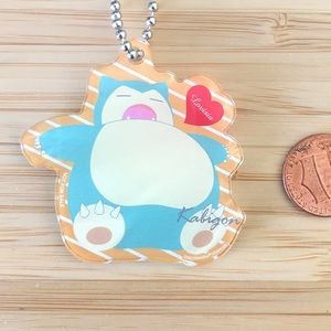 Rare limited edition pokemon snorlax keychain